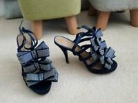 Kurt Geiger sandals size 5. Navy with tiny stud detail.