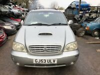 2003 Kia Sedona Lx Auto Mpv 2.9L Diesel Silver BREAKING FOR SPARES