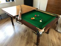 pool table slate bed dining table 6ft pool balls and cues
