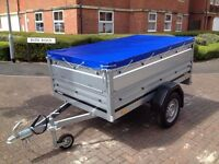 trailer THULE Brenderup 1205 s,with Extension Side Kit and flat cover