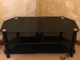 TV Unit Black Glass Excellent condition