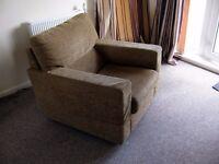 Light Brown-Tan Armchair.