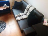 Fantastic condition brown leather sofa