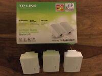 TP-LINK Powerline Adapter Homeplug Model AV500 x 3
