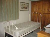 New Laura Ashley Cream Metal Bed and Myers Mattress