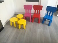 Mammut kids chairs and stools