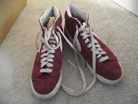 Nike Blazers burgundy size 8