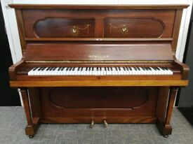 🎹 !!! Ritmuller, Mahogany Inlaid Quality Piano, Nationwide Delivery, £2,500 !!! 🎹Video Added
