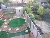 Garden edging & artificial grass
