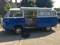 VW BAY WINDOW T2 POP TOP EXCEPTIONAL DEVON Camper van Tax exempt