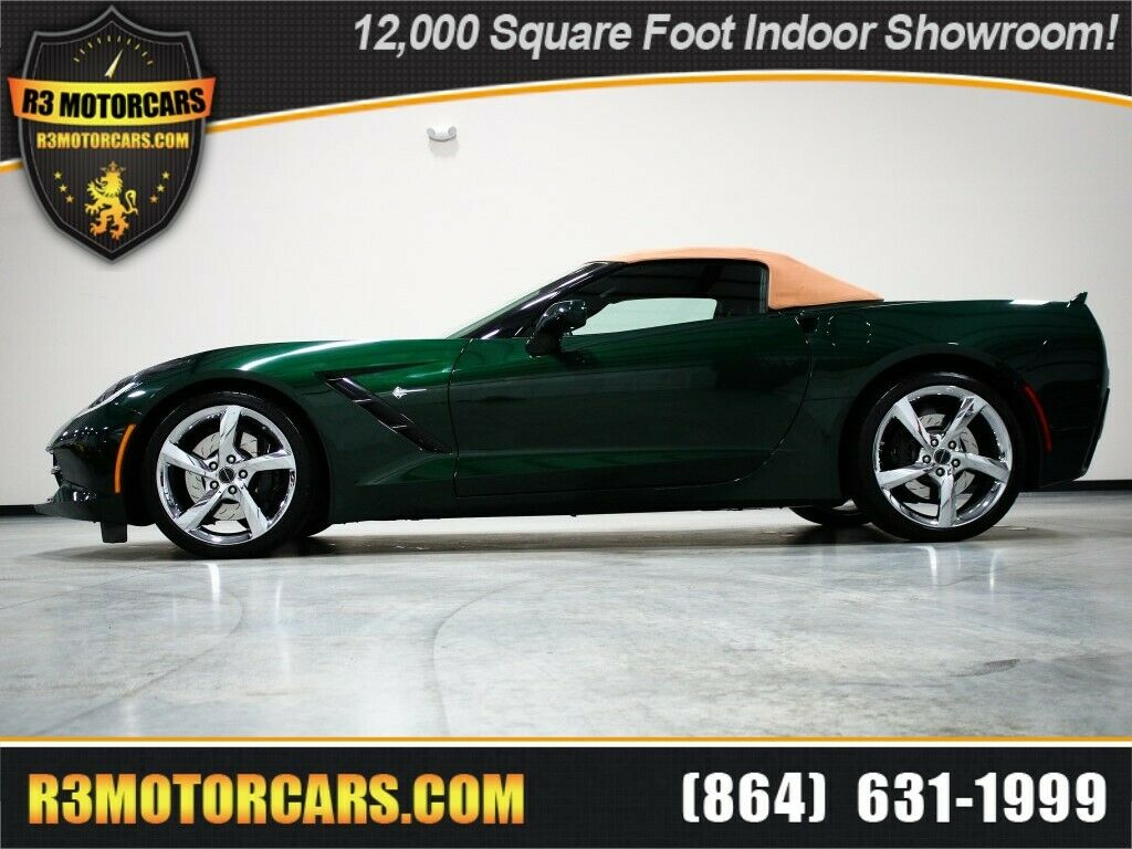 2014 Green Chevrolet Corvette Convertible 3LT | C7 Corvette Photo 1