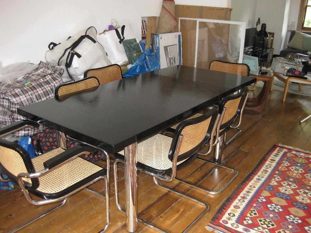 1970s Original Habitat Bauhaus Style Dining Table Amp 6