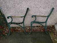 Used Cast Iron Bench Ends
