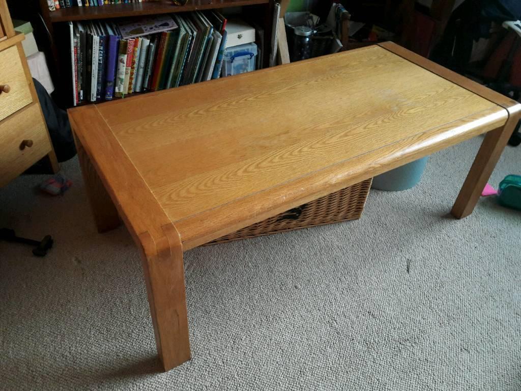 Oak Wood Coffee Table Like Habitat Radius