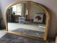 Over Mantle Gold Mirror