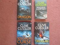 Clive Cussler x 4 paperback books all in excellent condition