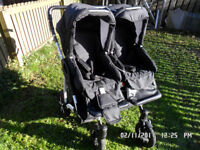 DOUBLE TWIN STROLLER Baby Pram Travel System 3 in 1