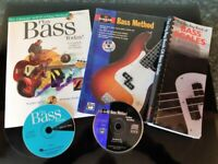 Learn to Play Bass guitar Books, 3 x Books & 2 x CDs