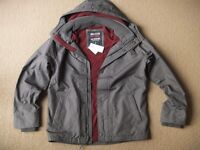( Last bump ) New Hollister Guys / Men's Grey All-weather Fleece Lined Jacket, size S or M - £25
