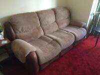Brown Recliner Sofa from Clean Home (SN2)