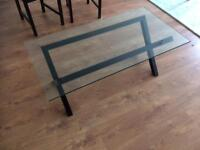 glass folding table