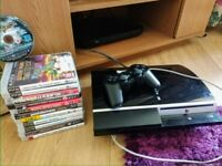 PlayStation 3 with 1 control and 12 games. box included.