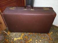 Large Brown Vintage Suitcase