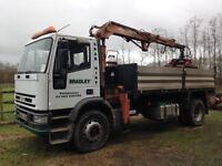 W REG 18t IVECO 4 WHEEL TIPPER WITH ATLAS 3008 GRAB £4250