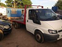 Ford transit recovery truck ready for work