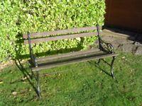 Garden bench, cast iron ends