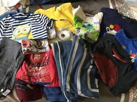 Boys 4-5 yrs clothes bundle Spider-Man ,minion,16 items