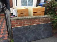 Free kitchen worktop and cupboards