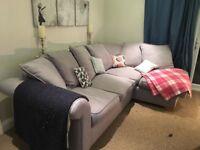 DFS Grey Corner L Shape Sofa