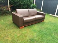 Brown Italian made large double bed settee sofa bed can deliver.