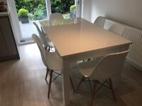 *SOLD* White gloss extending Dining Room Table from Next Home