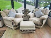 Free Sofa, Arm Chairs and Ottoman / Footstool.