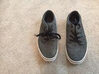Boys Vans Shoes, Grey, Size 6