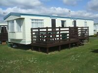 CARAVAN FOR HIRE - SOUTHERNESS - DUMFRIES - 2 BED SLEEPS FOUR PEOPLE - LIGHTHOUSE SITE- GOOD VALUE