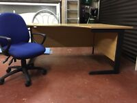 L shaped corner office desk and chair