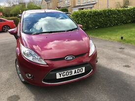 Ford Fiesta Zetec 1.4 petrol 2009 3 door hot magenta