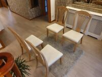 4 Dining Chairs,excellent condition