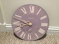 Jones & Co Edgeware Wall Clock 40c40cm Grey
