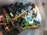 Box of Lego and bits