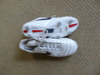 Nike White/Silver football boots