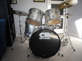 CB Drum Kit including upgraded Cymbals and Skins - good condition