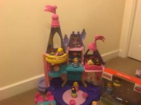 Fisher price Disney princess little people castle and extras