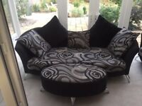 3 seater, large cuddle chair & footstool matching suite - immaculate!