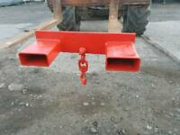 Forklift lifting jib with shackle rated to lift 2.5 ton tractor telehandler etc