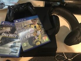 Playstation 4 with Fifa17, COD & headset