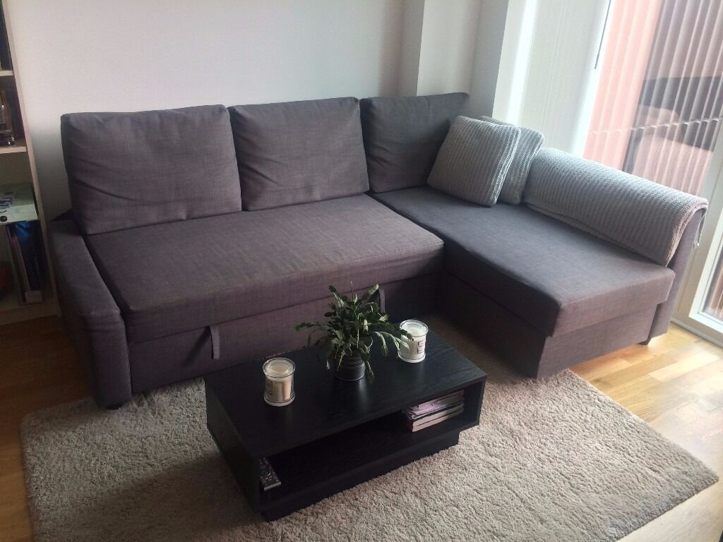 selling sofa bed with storage ikea friheten dark grey. Black Bedroom Furniture Sets. Home Design Ideas